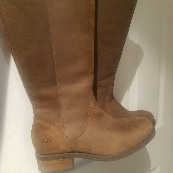 68e1d9bd6b4 UGG Seldon Riding Boot Brown Size 6.5 1009201